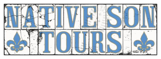 Native Son Tours (In the style of the New Orleans street tiles)